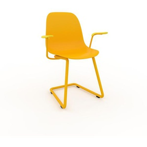 Schwingstuhl in Gelb 49 x 82 x 62 cm einzigartiges Design, konfigurierbar