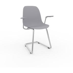 Schwingstuhl in Lichtgrau 49 x 82 x 62 cm einzigartiges Design, konfigurierbar