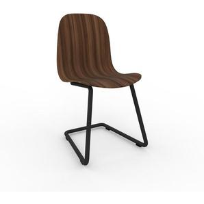 Schwingstuhl in Nussbaum 49 x 83 x 44 cm einzigartiges Design, konfigurierbar