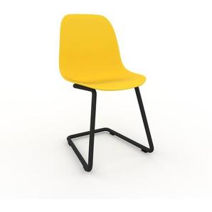 Schwingstuhl in Zitronengelb 49 x 82 x 44 cm einzigartiges Design, konfigurierbar