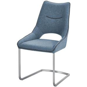 Schwingstuhl  Lenira ¦ türkis/petrol ¦ Maße (cm): B: 62 H: 96 T: 53 Stühle  Esszimmerstühle  Esszimmerstühle ohne Armlehnen » Höffner