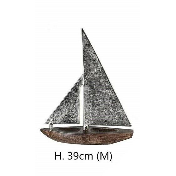 Segelboot Classic Skulptur Dekoart Holz Alu 43196 Design Figur H 39cm