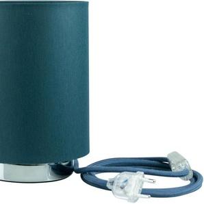 SEGULA Tischleuchte »Tischlampe - Chrom-Petrol, 2m Baumwollkabel mit Schalter«, Mit Schalter