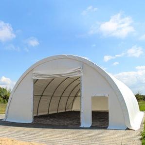 Sehr stabile Rundbogenhalle 9,15m x 10m x 4,5m- PVC 720 g/m² weiß