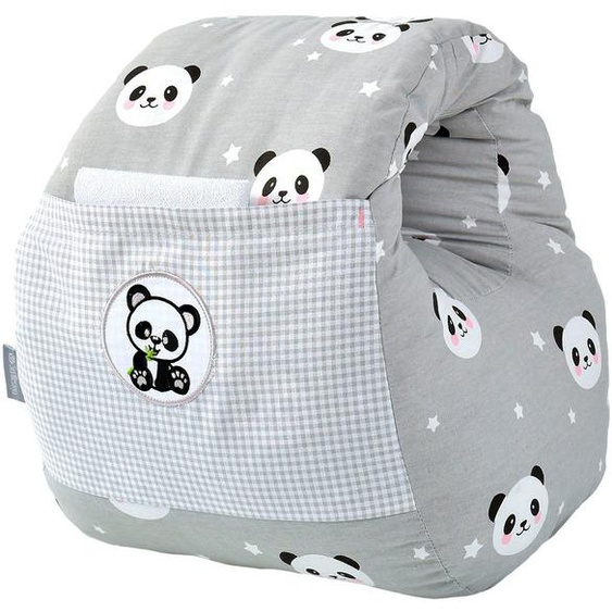 SEI Design Stillkissen »Panda-Taupe«, 1-tlg.