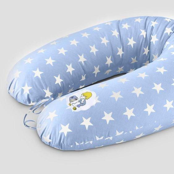 SEI Design Stillkissen »Vintage Sterne blau«, mit hochwertiger Stickerei mit niedlichen Vintage-Motiven