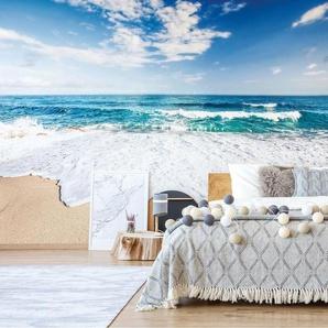 Seidenmatte Fototapete Meer und Sandstrand 2,08 m x 146 cm