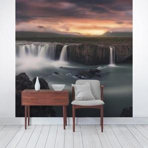 Halbglänzende Tapete Goðafoss Wasserfall
