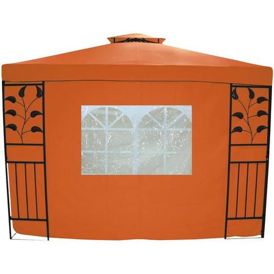 Seitenteile für Pavillon Livorno terrakotta, 2er-Set mit Fenster