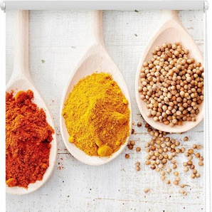 Seitenzugrollo »Klemmfix Motiv Spices«, LICHTBLICK ORIGINAL, Lichtschutz, ohne Bohren, freihängend, bedruckt