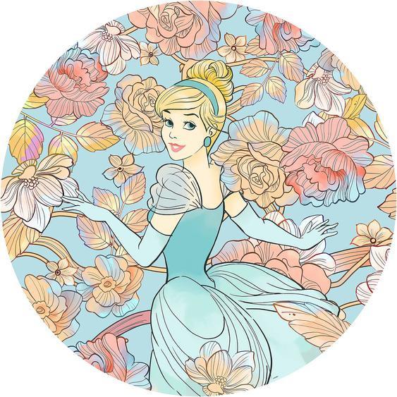 Selbstklebende Vlies Fototapete Cinderella Pastel Dreams