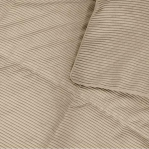 Selky Tagesdecke (125 x 225 cm), Kord in hellem Taupe