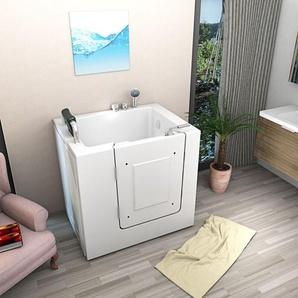 Senioren Sitzbadewanne Seniorenbadewanne Sitzwanne Badewanne mit Tür Pool A102 - TRENDBAD24 GMBH & CO. KG