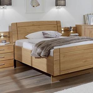 Seniorenbett mit Bettkasten im Kopfteil Erle 100x200 cm - Ageo