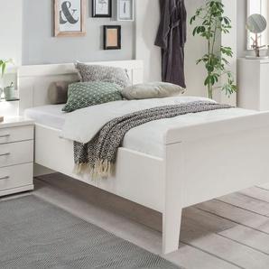 Preiswertes Seniorenbett in Weiß mit Fußteil 100x200 cm - Calimera