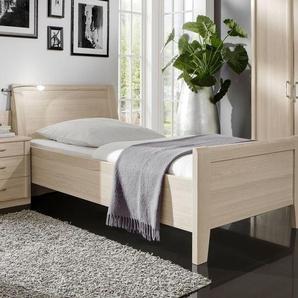 Preiswertes Seniorenbett in Edel-Esche-Dekor 100x190 cm - Montego