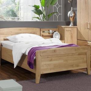 Günstiges Seniorenbett in Komforthöhe 120x220 cm Erle - Sanando