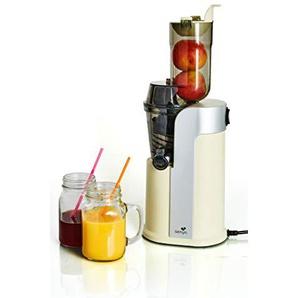 Senya Entsafter für Frucht- und Gemüsesaft Healthy Juicer, 60 U/min, extrabreiter Tropfschlauch, 82 mm, Kaltdruck, Motor leise 250 W, Creme, SYBF-CJ018C