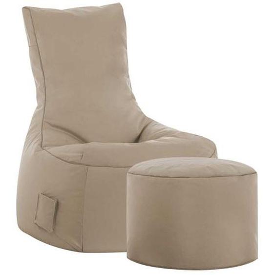 Sessel als Sitzsack Beige