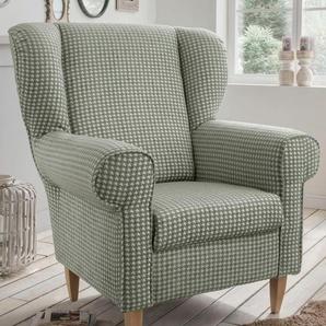 Home affaire Sessel , ohne Hocker, », mit Hahnentritt Bezug, wahlweise mit Hocker«, FSC®-zertifiziert