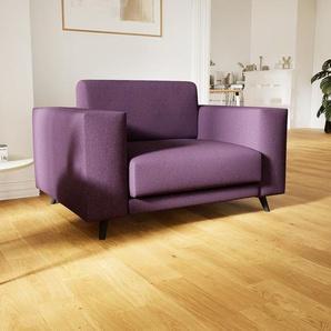 Sessel Auberginenlila - Eleganter Sessel: Hochwertige Qualität, einzigartiges Design - 128 x 75 x 98 cm, Individuell konfigurierbar