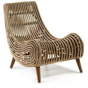Sessel aus Rattan Beige