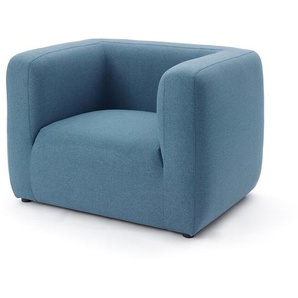 Sessel Baltimore blau, 65x94x78 cm