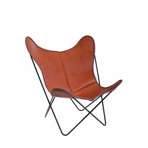 Sessel Butterfly Chair Manufakturplus schwarz, Designer Jorge Ferrari-Hardoy, 89x84x74 cm