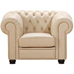 Sessel CHANDLER-23 pigmentiertes Nappaleder Farbe beige Sitzhärte mittel B: 110cm T: 98cm H: 76cm