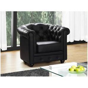 chesterfield sessel in schwarz preisvergleich moebel 24. Black Bedroom Furniture Sets. Home Design Ideas