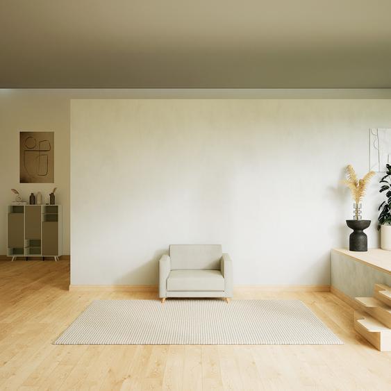 Sessel Cremeweiß - Eleganter Sessel: Hochwertige Qualität, einzigartiges Design - 105 x 75 x 98 cm, Individuell konfigurierbar