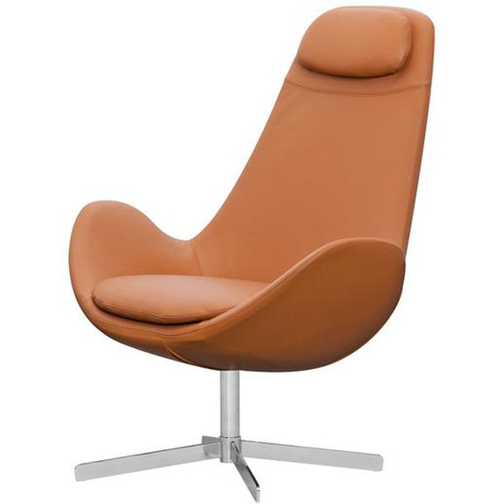 Studio Copenhagen Sessel Houston I Cognac Echtleder 89x110x89 cm (BxHxT)