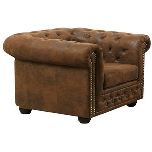 Sessel in Chesterfield Optik Braun