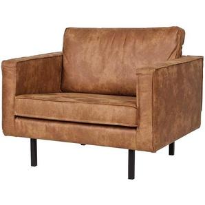 Sessel in Cognac Braun modern