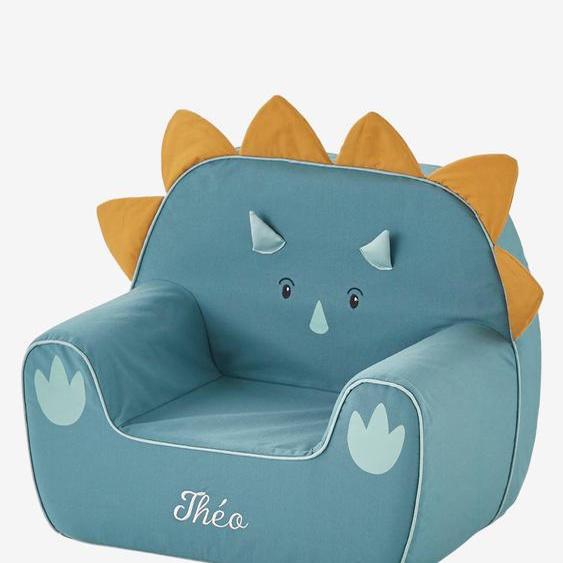 Sessel in Dino-Form, Triceratops, personalisierbar grün