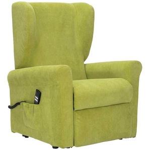 Sessel in Hellgr�n Webstoff Aufstehhilfe