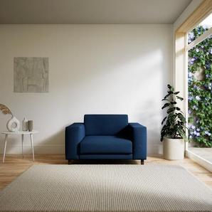 Sessel Jeansblau - Eleganter Sessel: Hochwertige Qualität, einzigartiges Design - 128 x 75 x 98 cm, Individuell konfigurierbar
