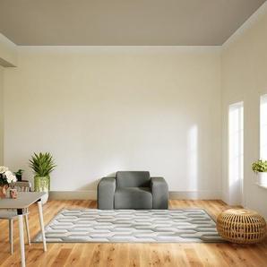 Sessel Kiesgrau - Eleganter Sessel: Hochwertige Qualität, einzigartiges Design - 141 x 72 x 107 cm, Individuell konfigurierbar
