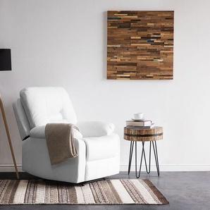Sessel Kunstleder weiss verstellbar BERGEN