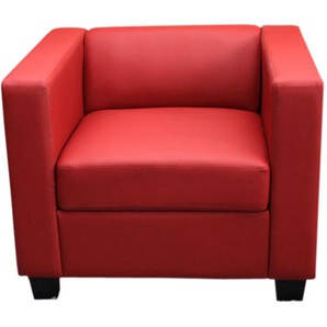 Sessel Loungesessel Lille ~ Kunstleder, rot