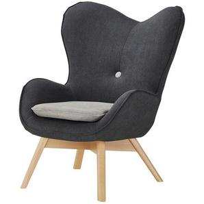 Sessel  Maxi ¦ grau ¦ Maße (cm): B: 86 H: 100 T: 92 Polstermöbel  Sessel  Ohrensessel » Höffner