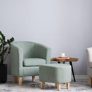 Sessel mit Hocker grün HOLDEN
