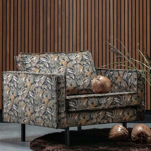 Sessel mit Samtbezug floral gemustert