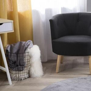 Sessel Polsterbezug schwarz ODENZEN