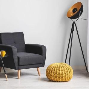 Sessel Polsterbezug schwarz verstellbar FLORLI