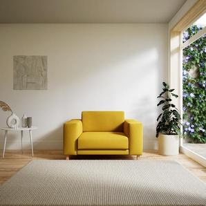 Sessel Rapsgelb - Eleganter Sessel: Hochwertige Qualität, einzigartiges Design - 128 x 75 x 98 cm, Individuell konfigurierbar
