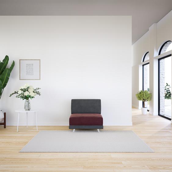 Sessel Samt Altrosa - Eleganter Sessel: Hochwertige Qualität, einzigartiges Design - 80 x 75 x 98 cm, Individuell konfigurierbar