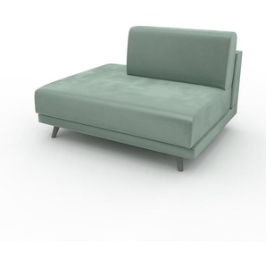 Sessel Samt Eisblau - Eleganter Sessel: Hochwertige Qualität, einzigartiges Design - 120 x 75 x 98 cm, Individuell konfigurierbar