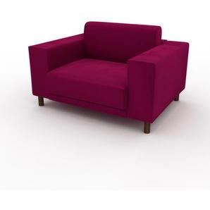 Sessel Magentapink - Eleganter Sessel: Hochwertige Qualität, einzigartiges Design - 128 x 75 x 98 cm, Individuell konfigurierbar