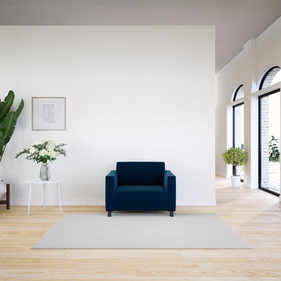Sessel Samt Nachtblau - Eleganter Sessel: Hochwertige Qualität, einzigartiges Design - 104 x 75 x 98 cm, Individuell konfigurierbar